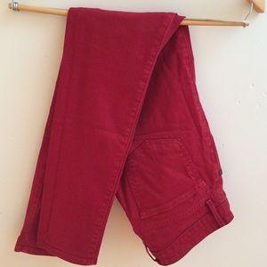 Easy Money red skinny jeans